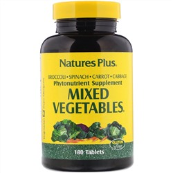 Nature's Plus, Mixed Vegetables, 180 таблеток